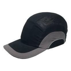 Hełm ochronny lekki REIS BUMPCAPMOVE BS do pracy roboczy lekki czapka z wkładką twarda środki ochrony indywidualnej antyskalpowy hełm kask z daszkiem bhp sklep system bejsbolówka raw-pol czarna szara