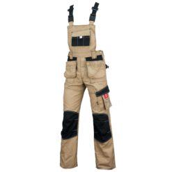 Ogrodniczki robocze URGENT URG-D do pracy ochronne szwedy szwedzkie z szelkami na szelkach spodnie ochronne bhp sklep system internetowy wytrzymałe dla pracowników odzież robocza beżowe czarne