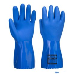 Rękawice chemoodporne PORTWEST A881 PCV chemiczne do pracy ochronne środki ochrony indywidualnej do pracy laboratorium przemysł grube chemikalia biologiczne wytrzymałe odzież bhp sklep system internetowy niebieskie