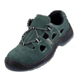 Sandały robocze URGENT 305 S1 do pracy ochronne obuwie bezpieczne bhp sklep system internetowy stalkapy podnosek nosek z blachą przewiewne wygodne antypoślizgowe szare zielone