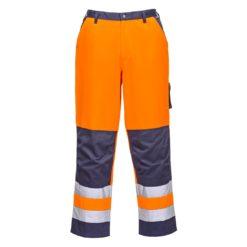 Spodnie ostrzegawcze PORTWEST TX51 Lyon 3 kolory wysokiej widoczności z odblaskami mocne drelichowe dla drogowców wytrzymałe odzież ochronna robocza bhp sklep system internetowy ubranie do pracy do pasa w pas pomarańczowe granatowe