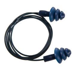 Zatyczki przeciwhałasowe PORTWEST EP07 sznurek do pracy ochronniki słuchu stopery wkładki do ucha wyciszające gumowe dla przemysłu spożywczego ze sznurkiem na sznurku wykrywalne przez detektory metalu środki ochrony indywidualnej granatowe