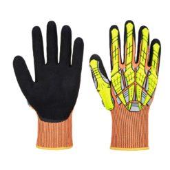 Rękawice Antyuderzeniowe PORTWEST A727 Monterskie odporne na uderzenie antyprzecięciowe na przecięcie ostre powlekane antypoślizgowe nitrylowe mocne z mankietem instalatorskie dla pracowników wygodne odporne bhp sklep system internetowy pomarańczowe rękawiczki robocze ochronne czarne żółte