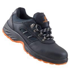 Buty robocze URGENT 207 SB do pracy ochronne bezpieczne z podnoskiem noskiem blachą stalkapy adidasy półbuty czarne skórzane antypoślizgowy twarde wygodne dla pracowników sklep system internetowy czarne pomarańczowe