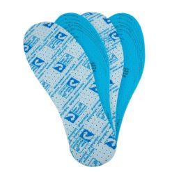 Wkładki do butów Antybakteryjne URGENT-01 Actifresh Antyzapachowe urgent uniwersalny rozmiar smrodowe anty odorowe higieniczne do buta robocze ochronne sklep system bhp internetowy niebieskie nasączane białe przód