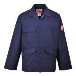 Bluza trudnopalna PORTWEST FR35 Bizflame Pro do pracy dla pracowników ochronna robocza spawalnicza dla spawaczy odporna na iskry bhp system sklep internetowy odzież robocza z kieszeniami bawełniana antystatyczna antyelektrostatyczna granatowa