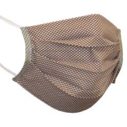 Maseczka Ochronna Bawełniana Vrązowo-biała maska wirus na gumce z gumką dwuwarstwowa wielorazowa wielokrotnego użytku przyjemna dopasowana wygodna miękka brązowa biała streetwear sklep system internetowy