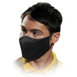 Maseczka higieniczna MAS-SAFER wielokrotnego użytku bawełniana na gumkach koronawirus ochronna wirusowa bakteryjna maska na gumkach do dezynfekcji sklep bhp czarna
