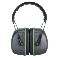 Nauszniki Ochronniki Słuchu PORTWEST PS46 34dB nauszniki wyciszające wygłuszające do pracy ochronne sklep bhp internetowy wygodne grube mocne zielone czarne przód