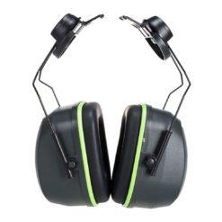 Nauszniki Ochronniki Słuchu PORTWEST PS45 nauszniki do hełmu ochronnego do kasku bez pałąka wytrzymałe 25 db snr czarne zielone środki ochrony indywidualnej bhp sklep internetowy system
