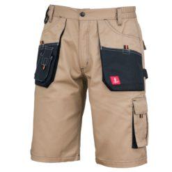Spodenki robocze URG-C Beżowe do pracy ochronne spodnie bhp system sklep internetowy z kieszeniami na lato wygodne elastyczne bermudy odzież dla pracowników beżowe piaskowe khaki brązowe czarne