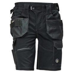 Spodnie robocze krótkie CERVA DAYBORO szorty bermudy do kolan krótkie odzież robocza ochronna bhp sklep system internetowy wytrzymałe potrójne szwy z kieszeniami na lato letnie elastyczny pas czarne