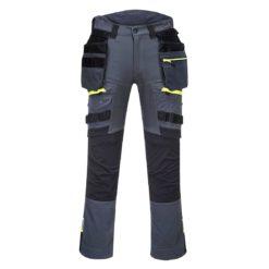 Spodnie robocze PORTWEST DX440 3 kolory do pracy ochronne elastyczne dla rzemieślników wysokiej jakości płócienne z kieszeniami kaburowymi monterskie odzież ochronna robocza bhp sklep system internetowy slimowane premium szare czarne żółte