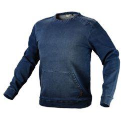 Bluza robocza NEO TOOLS 81-512 ochronna robocza ciepła sprany jeans kangurka z kieszenią przelotową dla pracowników odzież robocza bhp sklep system internetowy granatowa