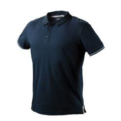 Koszulka polo NEO TOOLS 81-606 DENIM polówka do pracy robocza dla pracowników bhp sklep system internetowy z kołnierzykiem dopasowana granatowa