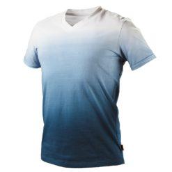 Koszulka t-shirt NEO TOOLS 81-602 DENIM ochronna podkoszulek bawełniany oddychający kolorowy cieniowany dla pracowników odzież bhp sklep system internetowy biała granatowa niebieska