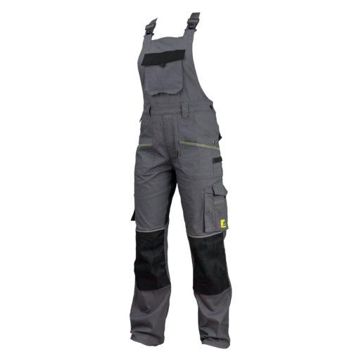 Ogrodniczki robocze URGENT URG-S2 szwedy szwedzkie spodnie bhp sklep system internetowy z szelkami na szelkach wytrzymałe z kieszeniami ubranie robocze dla pracownika odzież ochronna szare grafitowe czarne