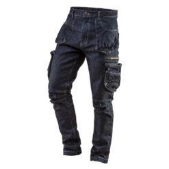 Spodnie robocze NEO TOOLS 81-229 ciuchy ochronne dżinsowe jeansowe wytrzymałe neo topex z keiszeniami wytrzymałe bhp sklep system internetowy odzież robocza dla pracowników granatowe