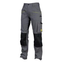 Spodnie robocze URGENT URG-S2 spodnie robocze do pracy do pasa w pas ochronne drelichowe wytrzymałe potrójne szwy szare czarne dopasowane z kieszeniami grafitowe bhp sklep system internetowy przód