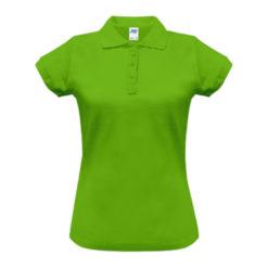 Koszulka polo damska JHK POPL200 limonkowa polówka koszulka z kołnierzykiem do pracy robocza ochronna bhp sklep system internetowy do nadruku dla pracowników logo nadruk firmowy odzież reklamowa dla kobiet zielona limonkowa neonowa
