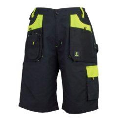 Szorty robocze URGENT URG-Y czarno-żółte krótkie spodnie spodenki do pracy ochronne robocze z kieszeniami odporne urgenty dla pracowników bhp sklep system internetowy odzież robocza czarne żółte