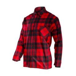 Koszula flanelowa LAHTI PRO L41809 Czerwona do pracy ochronna dla pracowników lekka przewiewna oddychająca w kratę bhp sklep system internetowy czerwona granatowa czarna