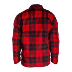 Koszula flanelowa LAHTI PRO L41809 Czerwona do pracy ochronna dla pracowników lekka przewiewna oddychająca w kratę bhp sklep system internetowy czerwona granatowa czarna tył