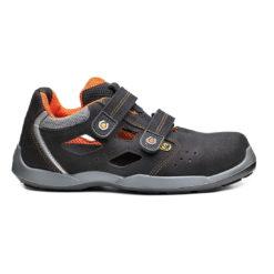 Sandały robocze BASE JUDO B0698 S1P ESD SRC przewiewne buty ochronne obuwie bezpieczne do pracy bhp sklep system internetowy na lato na rzep z podnoskiem noskiem dla pracowników antypoślizgowe premium base protection elastyczne czarne pomarańczowe