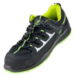 Sandały robocze URGENT 313 S1 do pracy ochronne buty bhp sklep system internetowy przewiewne sandały z odblaskami czarne zielone seledynowe antypoślizgowe stalkapy z noskiem podnoskiem metalowym stalowym dla pracowników