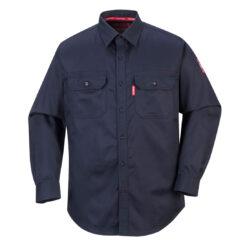 Koszula trudnopalna PORTWEST FR89 do pracy ochronna spawalnicza dla spawacza lekka wytrzymała odzież ochronna bhp sklep system internetowy łuk elektryczny dla szlifierzy granatowa