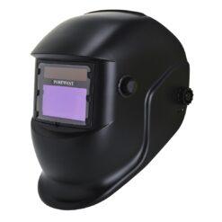 Przyłbica spawalnicza PORTWEST PW65 BizWeld automatyczna samościemniająca dla spawacza ochronna regulowana trudnopalna odzież ochronna ochrona głowy bhp sklep system internetowy czarna
