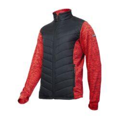Bluza robocza LAHTI PRO L40132 do pracy robocza ciepła pikowana dresowa bhp sklep system internetowy wiatroszczelna ciepła dla pracowników na jesień zimę odzież robocza bluzka czerwona czarna