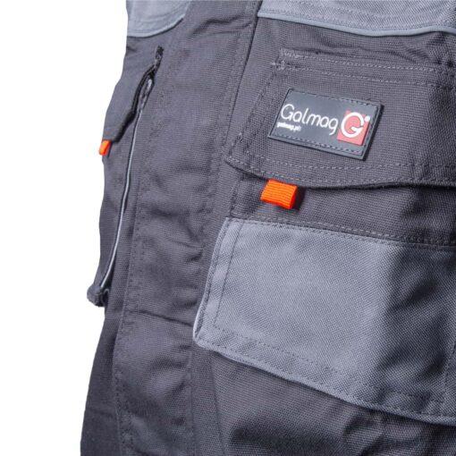 Bluza robocza GALMAG WH290A ochronna bhp dla pracowników wytrzymała z kieszeniami dziane mankiety plisa grafitowa bhp sklep system internetowy szara detal