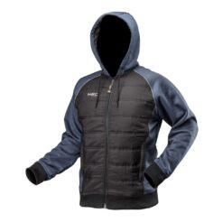 Bluza robocza z kapturem NEO TOOLS 81-556 do pracy ochronna bhp bluza pikowana ciepła dla pracowników sklep system internetowy na jesień zimę odzież ochronna robocza granatowa czarna
