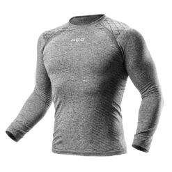 Koszulka termoaktywna NEO TOOLS 81-660 do pracy kalesony ocieplana przylegająca na zimę jesień termiczna bielizna bhp sklep system internetowy dla pracowników przylegająca do ciała szara