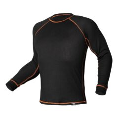 Koszulka termoaktywna BASIC NEO TOOLS 81-661 ciepła ocieplana bielizna na zimę zimowa bhp sklep system internetowy odzież dla pracowników czarna pomarańczowa