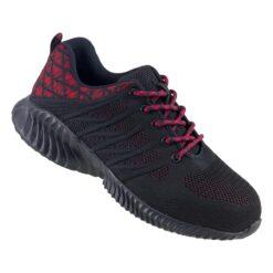 Buty robocze URGENT 246 S1 do pracy ochronne bhp obuwie bezpieczne z podnoskiem noskiem blachą stalkapy metalowy nosek twardy sportowe adidasy sneakersy bhp sklep system internetowy czarne czerwone