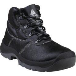 Trzewiki robocze DELTA PLUS JUMPER3 S3 buty robocze do pracy z podnoskiem noskiem ochronny bhp sklep system internetowy stalkapy wkładka antyprzebiciowa skórzane skórkowe antypoślizgowe czarne sznurowane dla pracowników