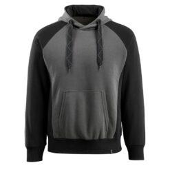 Bluza robocza MASCOT Rogensburg 50572-963 do pracy ochronna z kapturem kangurka wciągana przez głowę dla pracowników odzież robocza bhp sklep system internetowy czarna szara antracyt