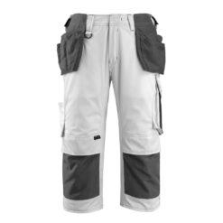 Spodnie robocze 3/4 MASCOT Lindau 14349-442-09 do pracy ochronne rybaczki kieszenie monterskie wiszące z nakolannikami mocne wytrzymałe bhp sklep system internetowy biale