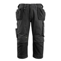 Spodnie robocze 3/4 MASCOT Lindau 14449-442-09 do pracy ochronne rybaczki kieszenie monterskie wiszące z nakolannikami mocne wytrzymałe bhp sklep system internetowy czarne