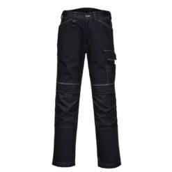 Spodnie robocze PORTWEST PW304 Stretch PW3 streczowe rozciągliwe elastyczne do pracy dla pracowników bhp sklep system internetowy potrójne szwy odzież ochronna czarne