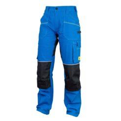 Spodnie robocze URGENT URG-S1 ELASTAN do pracy ochronne robocze bhp sklep system internetowy elastyczne rozciągliwe bawełniane oddychające odzież dla pracowników w pasa do pasa niebieskie czarne