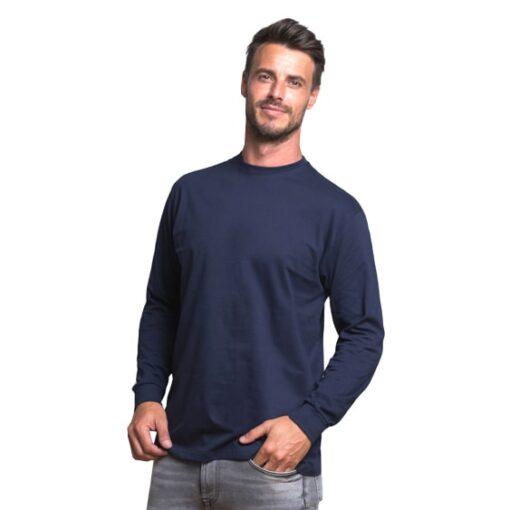 Koszulka z długim rękawem JHK 170 LS Czarna do pracy ochronna odzież dla pracowników bhp sklep system internetowy na długi rękaw koszulka cienka wytrzymała bawełniana oddychająca na modelu granatowa