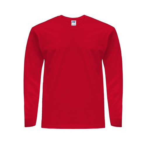 Koszulka z długim rękawem JHK 170 LS czerwona do pracy ochronna odzież dla pracowników bhp sklep system internetowy na długi rękaw koszulka cienka wytrzymała bawełniana oddychająca czerwona