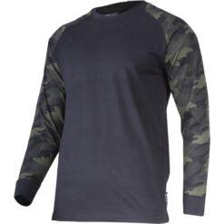 Koszulka z długim rękawem LAHTI PRO L40231 Moro do pracy ochronna dla pracowników bhp sklep system internetowy odzież ochronna granatowa moro wytrzymała bawełniana oddychająca