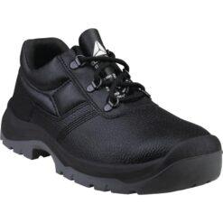 Półbuty robocze DELTA PLUS JET3 S1 SRC do pracy ochronne buty bezpieczne bhp sklep system internetowy dla budowlańca dla pracowników z podnoskiem noskiem metalowym stalkapy antypoślizgowe skórzane skórkowe czarne
