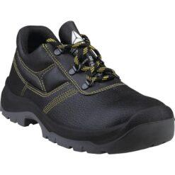 Półbuty robocze DELTA PLUS JET3 S1P SRC do pracy ochronne robocze wytrzymałe obuwie bezpieczne buty bhp sklep system internetowy skórzane skórkowe z podnoskiem noskiem stalkapy wkładka antyprzebiciowa dla pracowników czarne