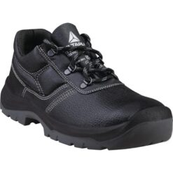 Półbuty robocze DELTA PLUS JET3 S3 SRC do pracy ochronne wytrzymałe obuwie bezpieczne buty bhp sklep system internetowy skórzane skórkowe dla pracowników z podnoskiem noskiem metalowy wkładka antyprzebiciowa wodoodporne antypoślizgowe czarne