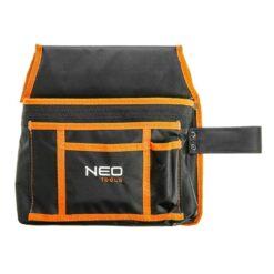 Kieszeń na narzędzia NEO TOOLS 84-333 worek kieszeniowy do paska na narzędzia wielofunkcyjne kieszenie z uchwytem na młotek odzież robocza sklep system bhp czarna pomarańczowa